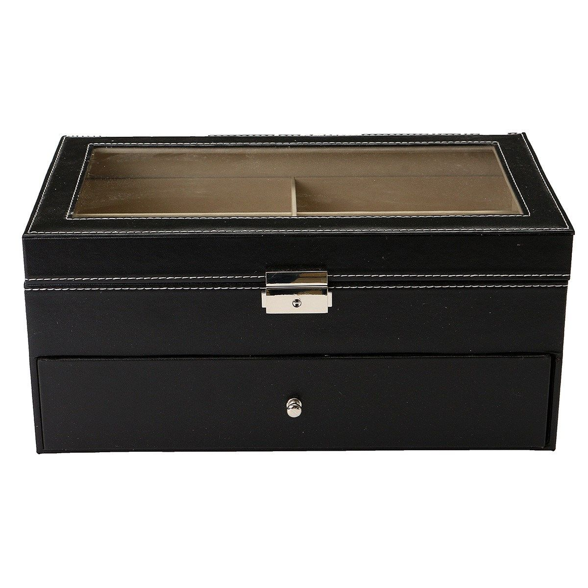 Boxes For Decoration And Crafts New 12 Slots Decorative Wooden Boxes Display Case Glasses