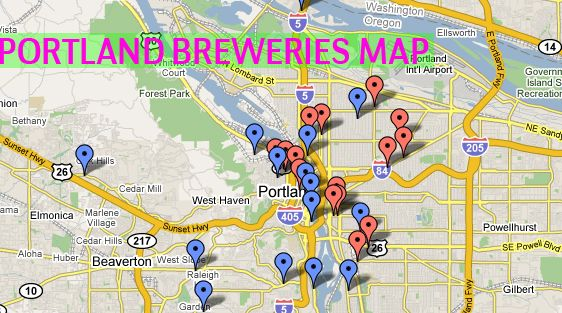 Breweries In Portland Oregon Map.Portland Breweries Map The Locals Love Their Home Brews And Pub
