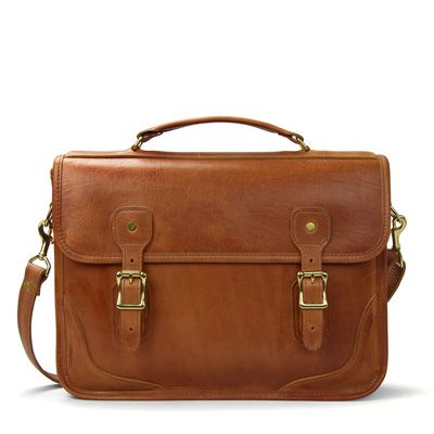 Classic Brief Bag Briefcase| Tan Leather | J.W. Hulme Co.