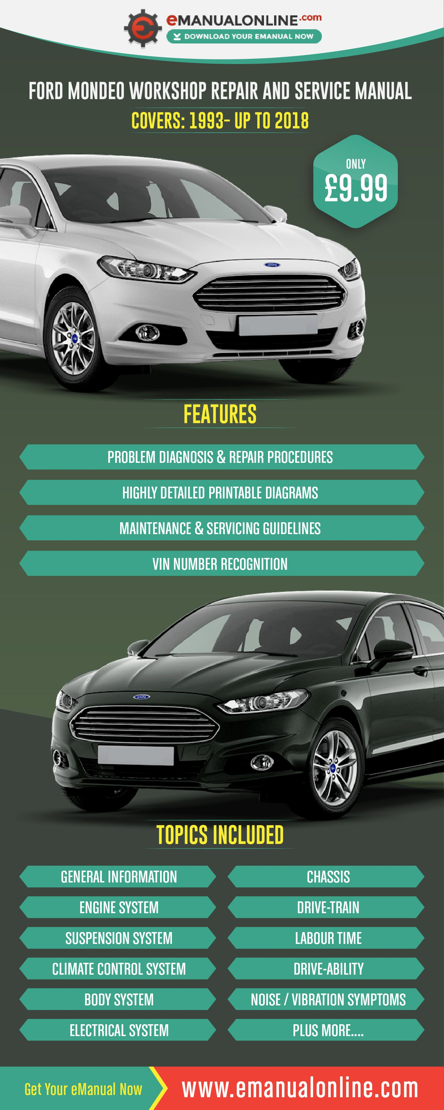 Ford Mondeo Workshop Repair And Service Manual This workshop manual  contains comprehensive data on repair procedures