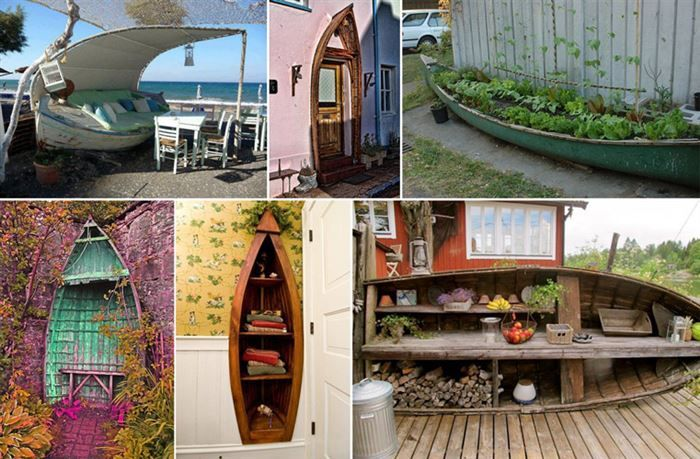 12 Upcycled Ways to Re-purpose Old Boats
