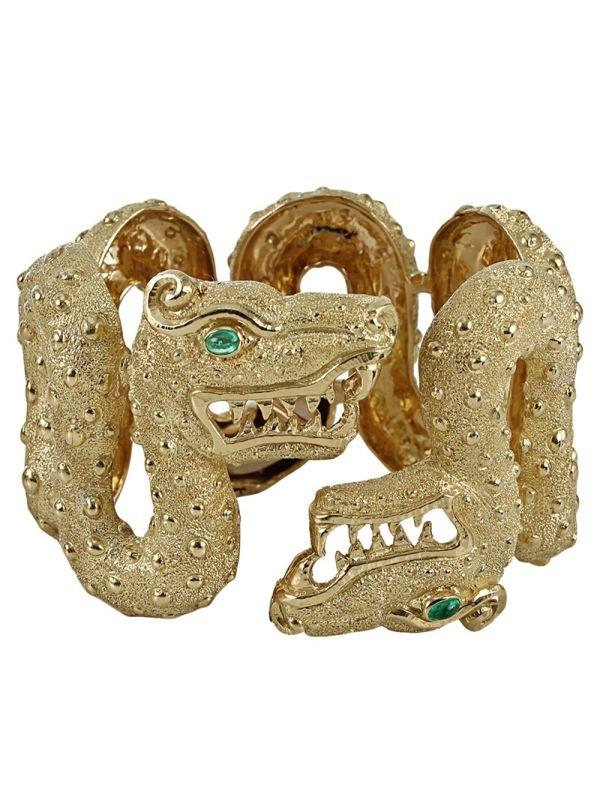 DAVID WEBB Double dragon bracelet