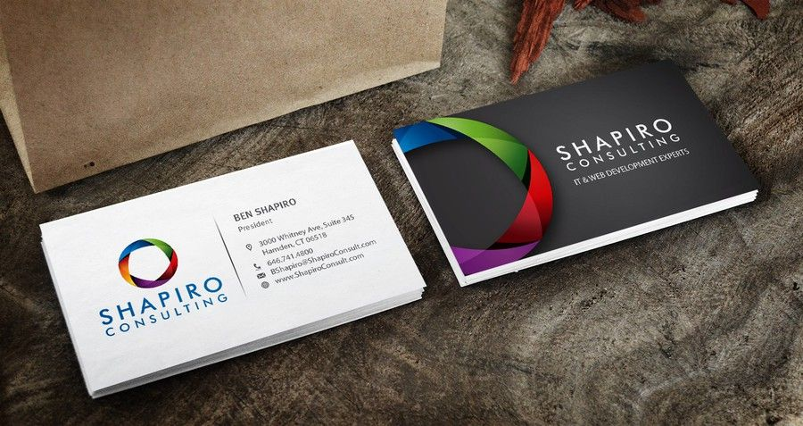 Freelance new business card design for technology consulting company by blue