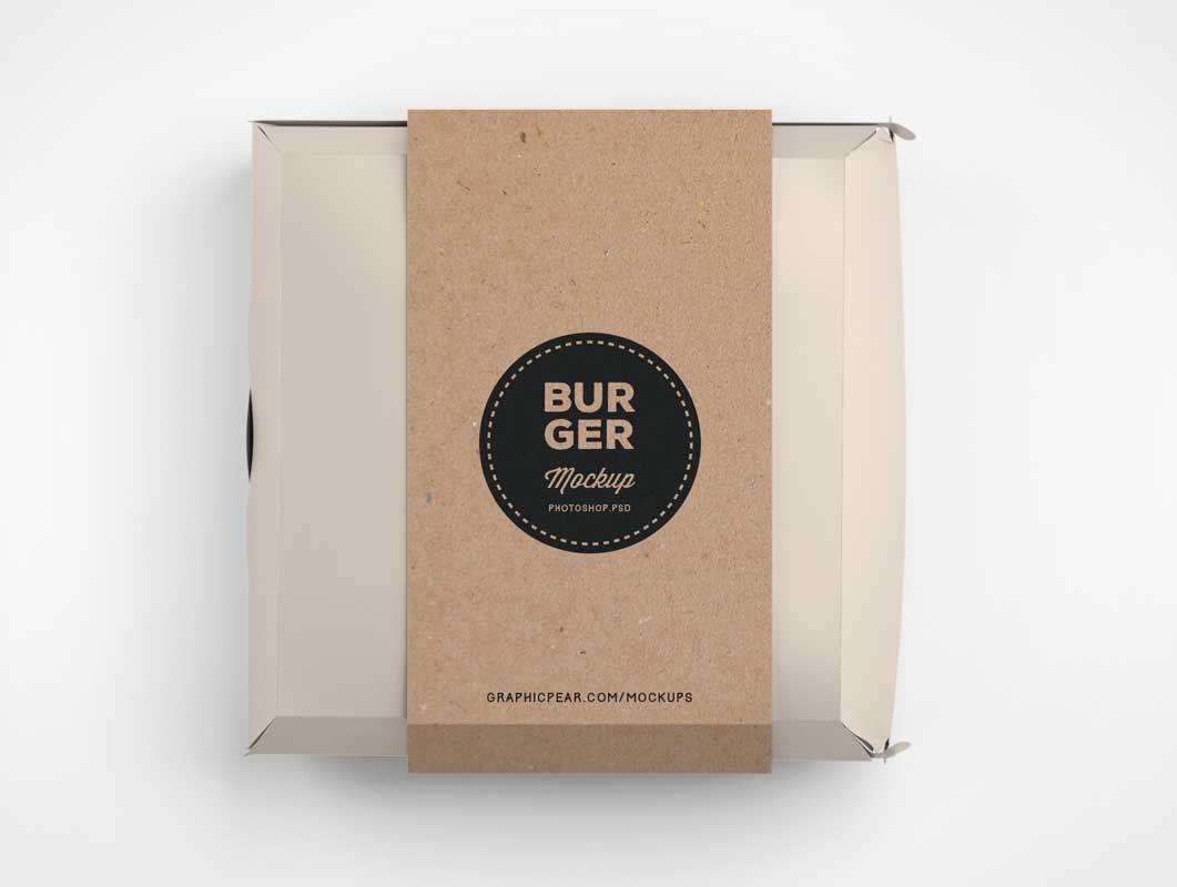 Fast Food Hamburger Packaging Psd Mockup Mockup Food Mockup Packaging