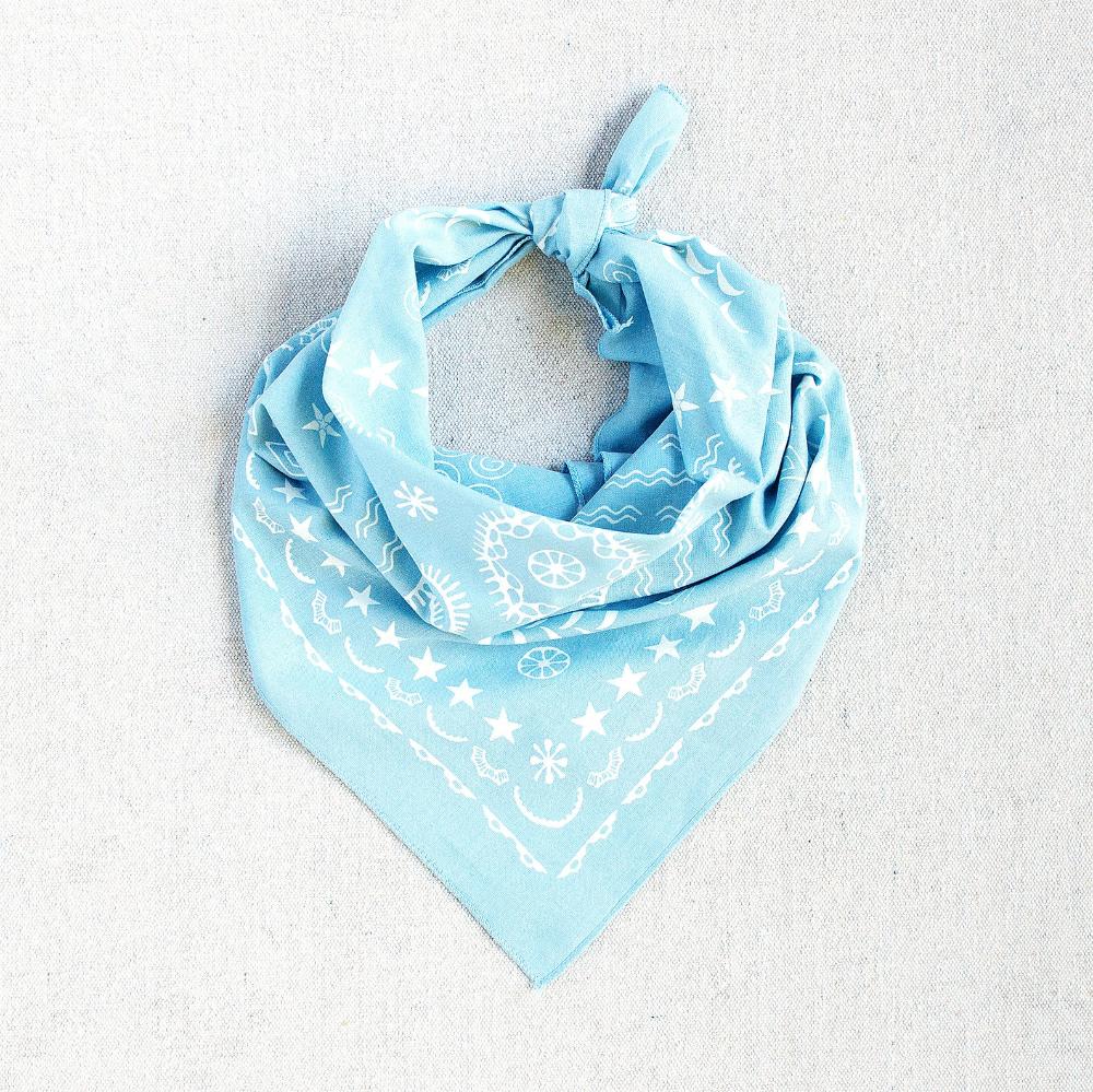 Light Blue Bandana Four Elements Design Bandana For Women Etsy Tarot Cloth Wool Dryer Balls Etsy