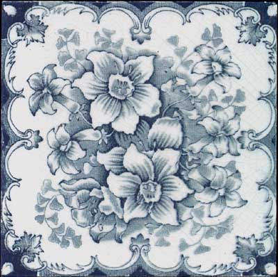 english floral transfer tile other tiles pinterest decoupage