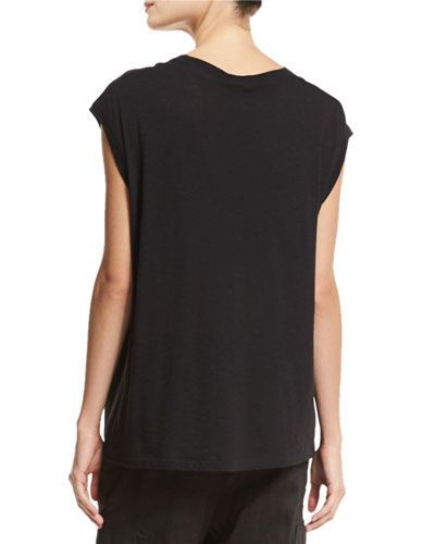 VINCE PIMA COTTON MUSCLE TANK. #vince #cloth #