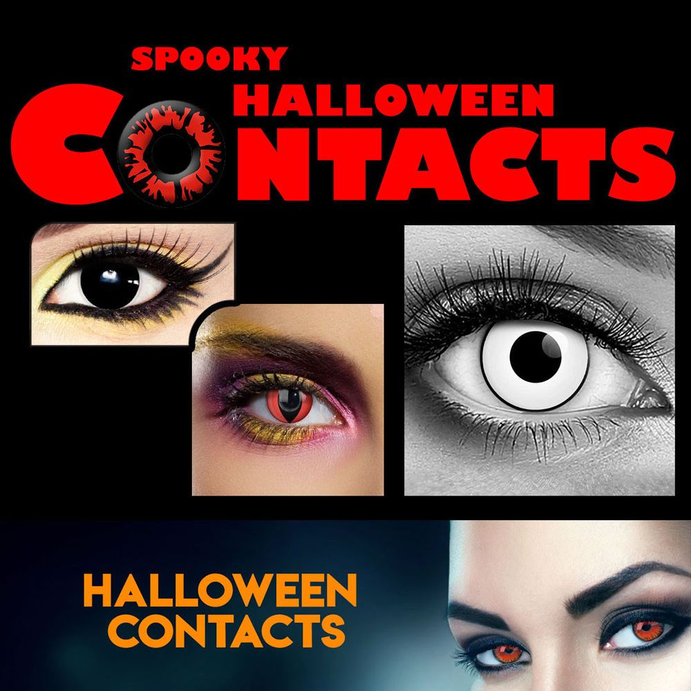 spooky eye color contact lenses halloween party usa shipper fast