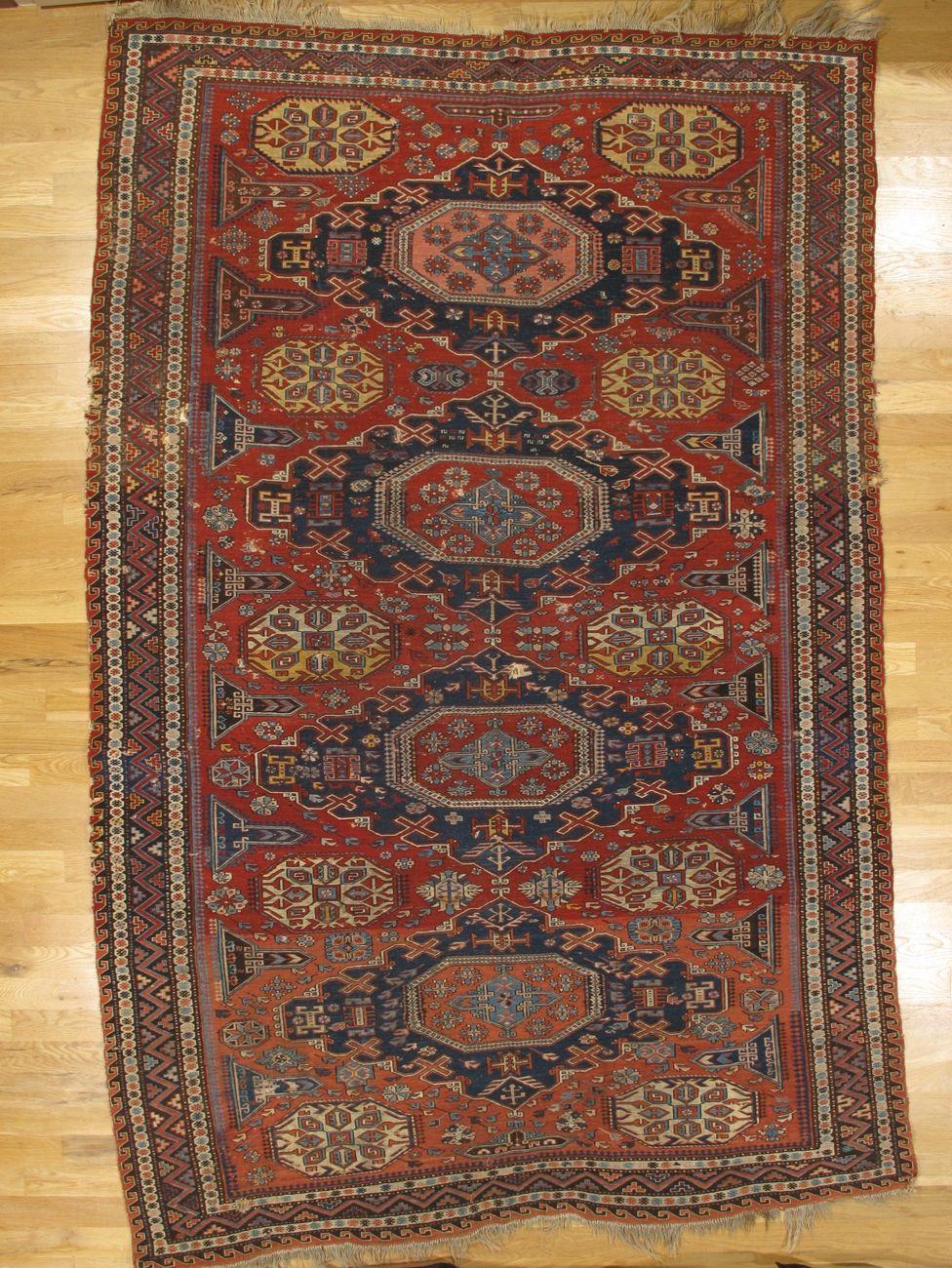 Soumak Carpet From Kuba District Eastern Caucasus West Coast Of The Caspian Sea Age Circa 1890 Size 10 6 X6 8 320x203 Cm Rugs Fluffy Rug Persian Rug