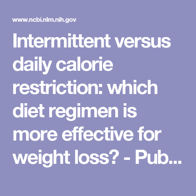 weight loss caloric restriction