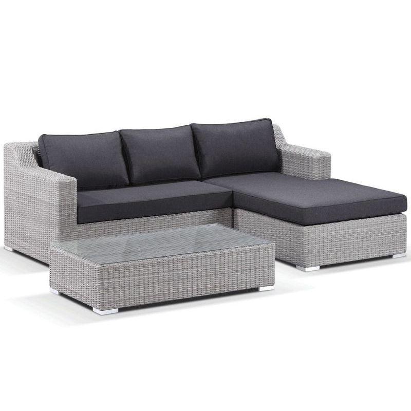 Cuba Loungeset Light Grey.Milano Outdoor Lounge Set W Right Chaise In Grey Outdoor Lounge