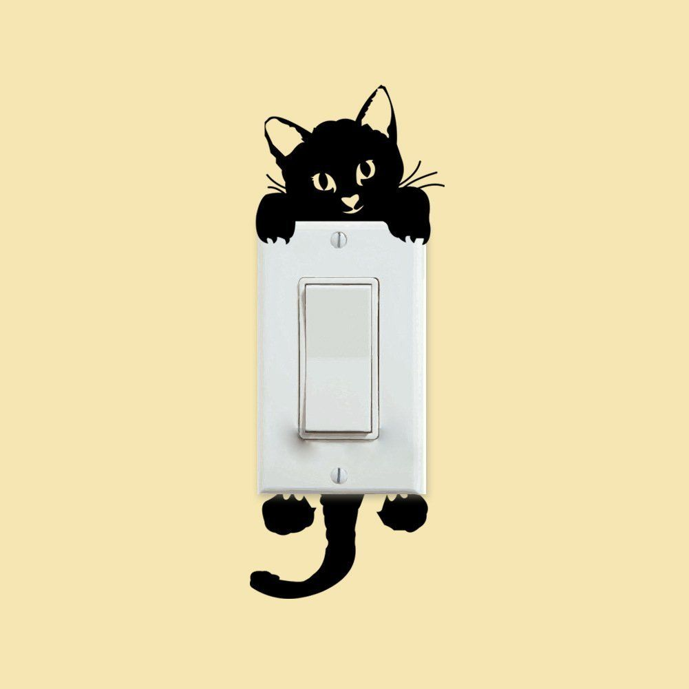 Amazon.com: Coromose® Cat Wall Stickers Light Switch Decor Decals ...