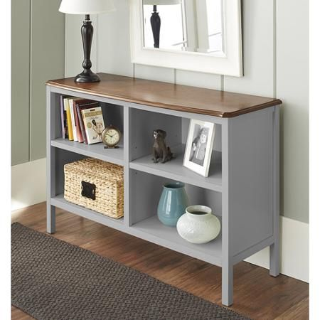 10 Spring Street Hinsdale Horizontal Bookcase Multiple Colors Walmart Com Horizontal Bookcase Bookcase Home Office Decor