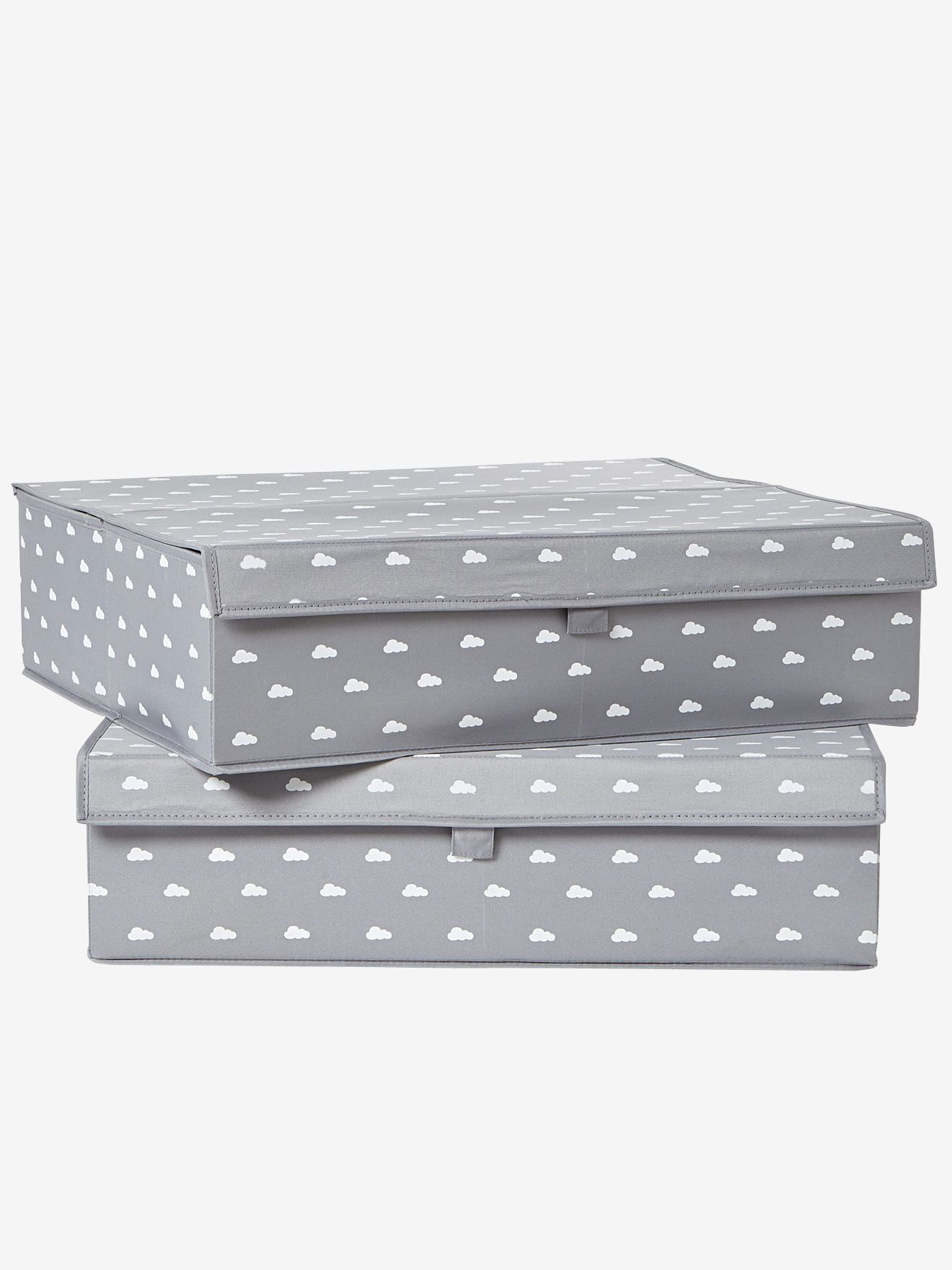 Flache Aufbewahrungsbox Mit Deckel Von Vertbaudet In Grau Nur