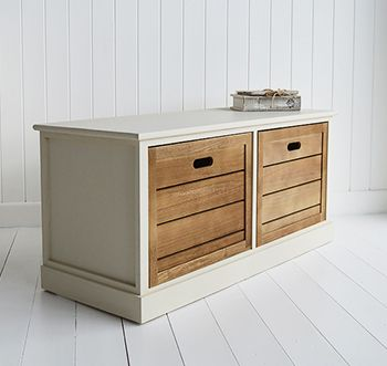 Providence Storage Bench For Hall Furniture With Large Drawers From The  White Lighthouse
