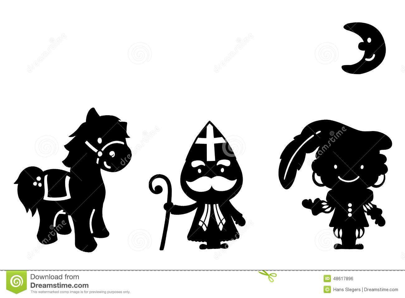 Paard Zittend Kleurplaat Afbeeldingsresultaat Voor Sinterklaas Silhouette