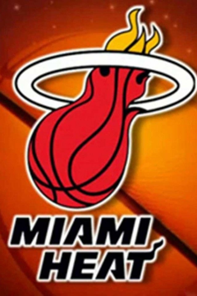 Nba Miami Heat Team Logo Images Basketball Background Hd Iphone 4 And 4s Wallpapers Nba Miami Heat Miami Heat Heat Team
