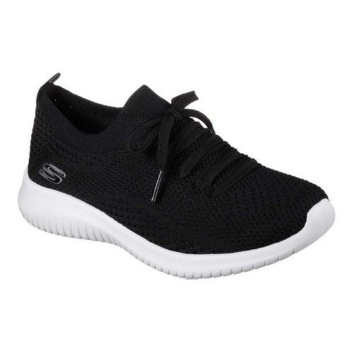 Women S Skechers Ultra Flex Statements Sneaker Black White