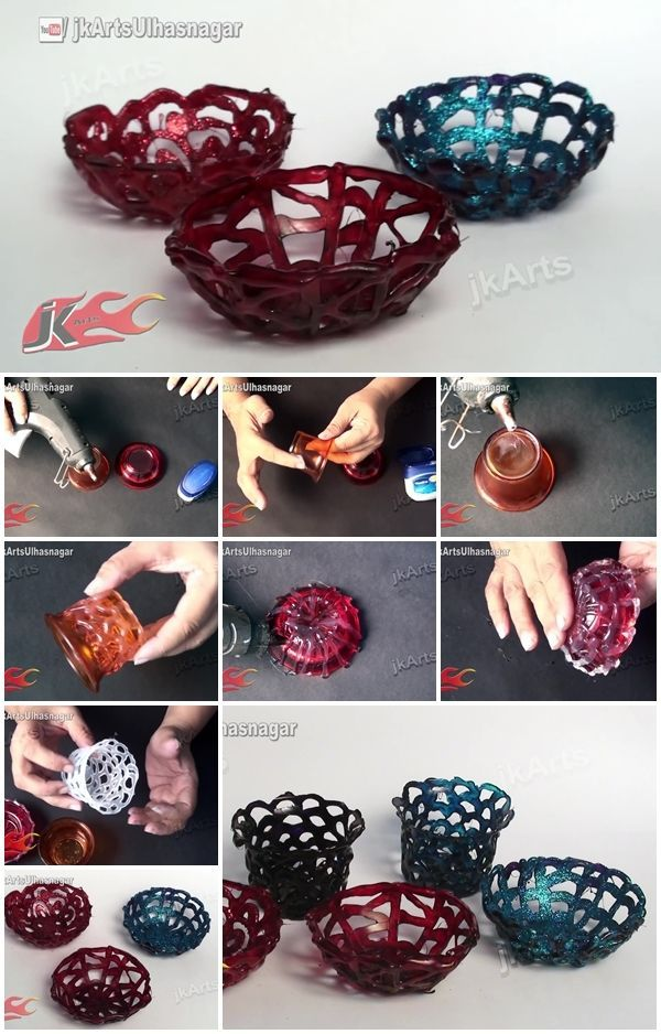 Mini Baskets From Hot Glue This Is