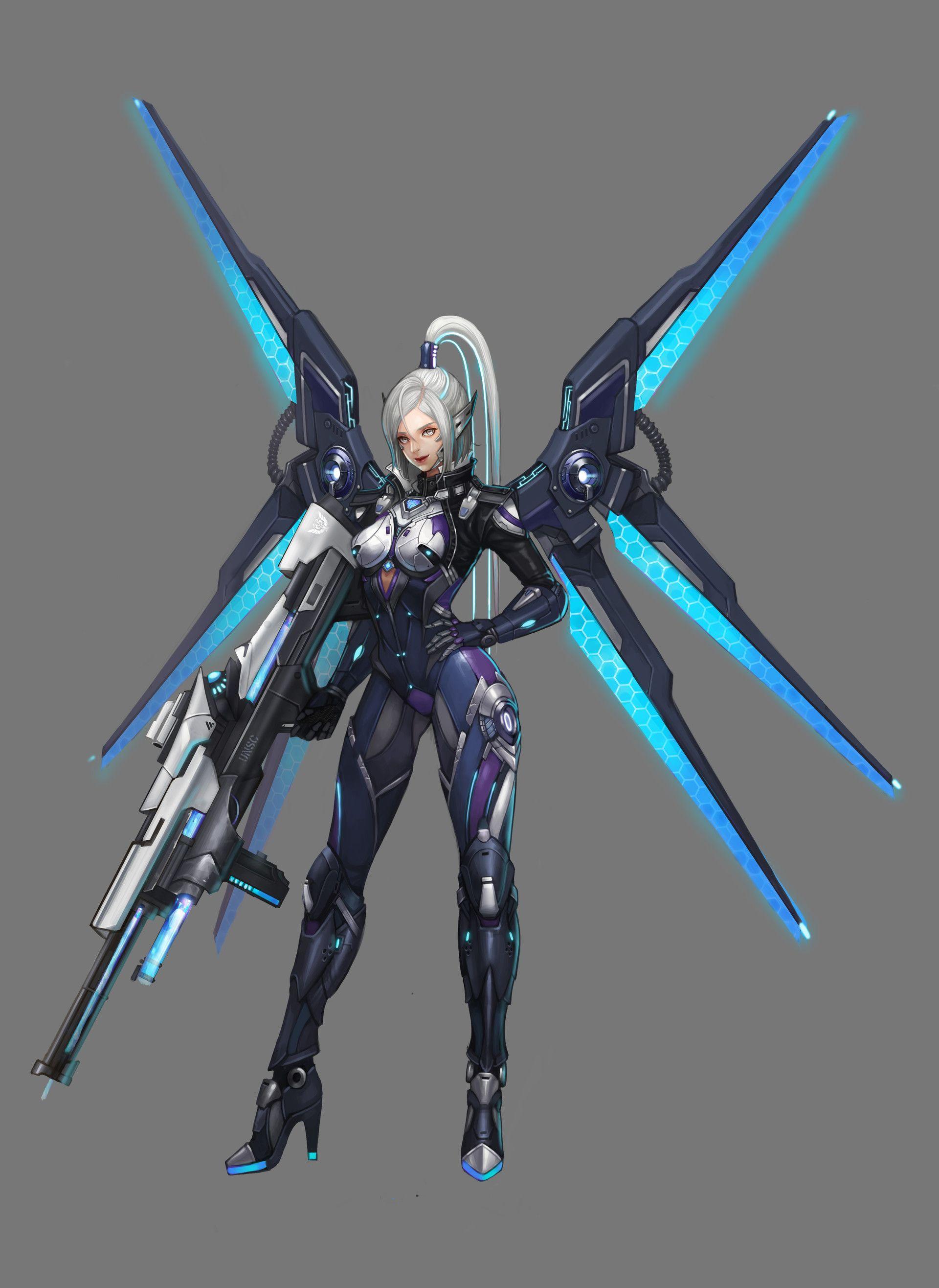ArtStation Ranger, byeol kim Character art, Robot