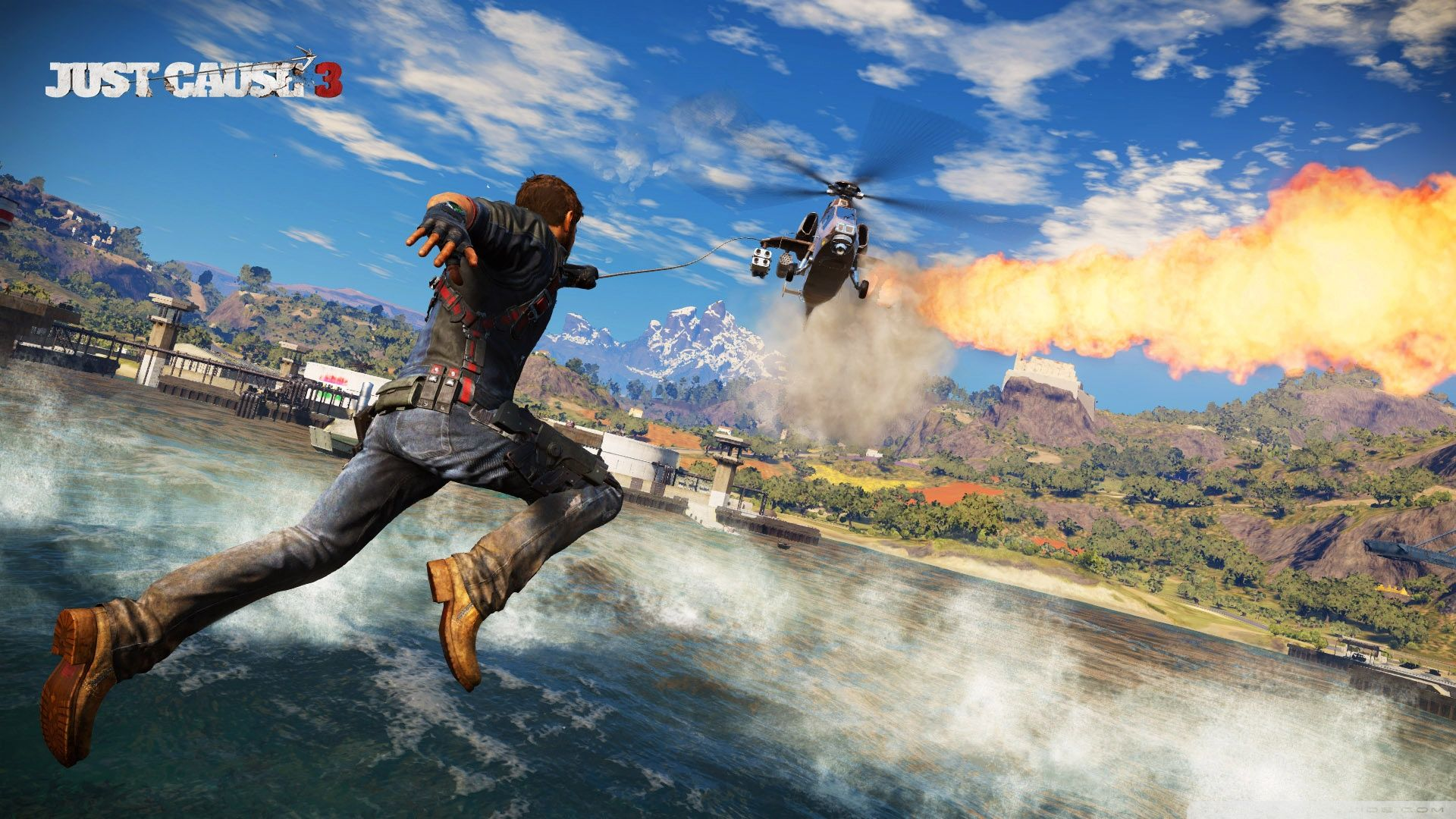 Just Cause 3 Ultra Hd Wallpaper For 4k Uhd Widescreen Desktop Tablet Smartphone Games Just Cause 3 Avalanche Studios Video Game Reviews