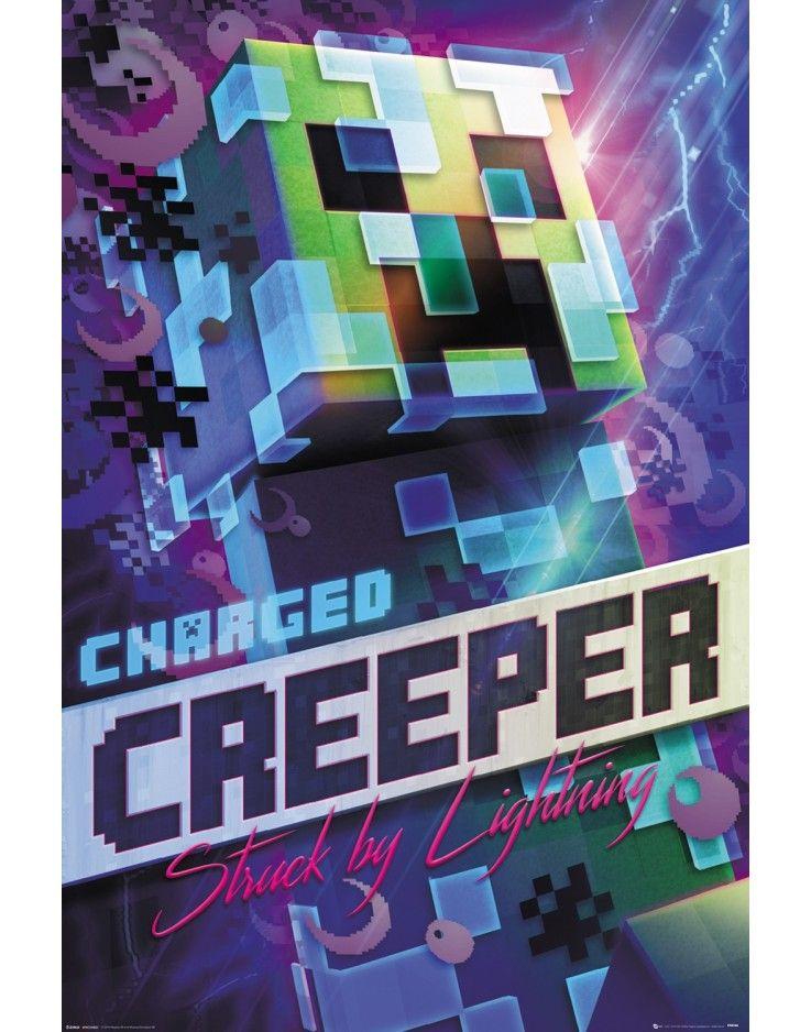 Minecraft Charged Creeper Maxi Poster Fotos De Minecraft Desenhos Minecraft Papel De Parede Minecraft
