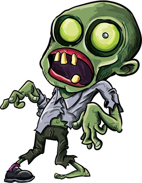 Zombie Cartoon Drawings | Twisted cartoon zombie Art Print