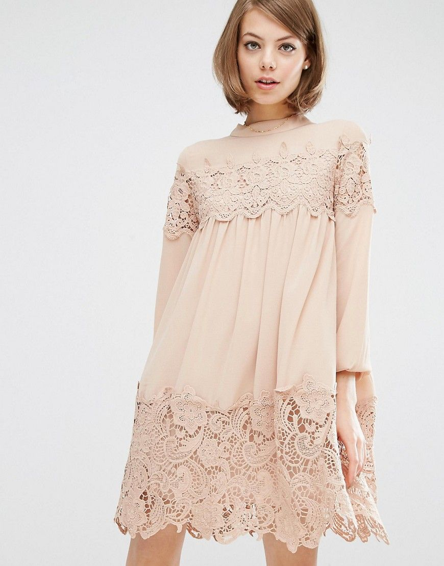 Dresses with lace inserts