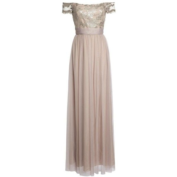 Women's Amsale Ireland Embellished Off The Shoulder Gown
