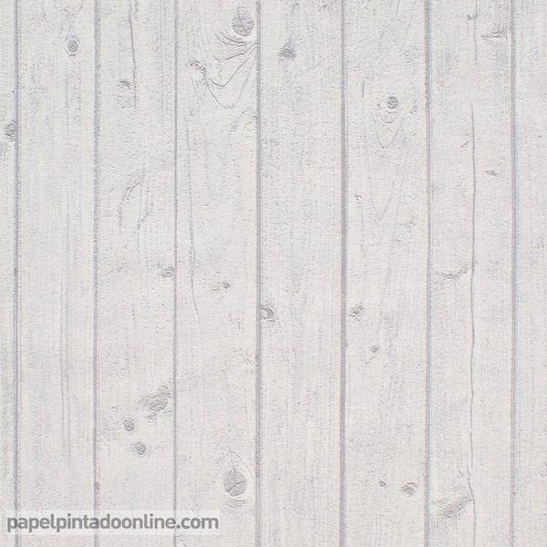 Papel pintado metaphore mte 6565 10 18 imitaci n listones for Papel pintado madera blanca