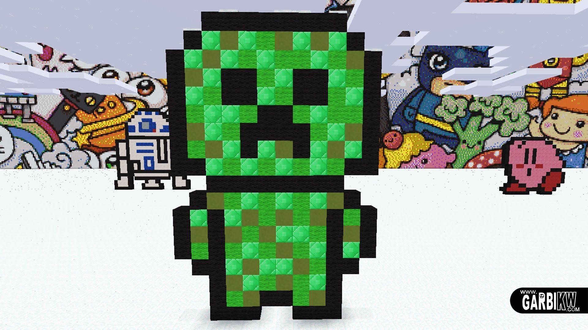 Minecraft Pixel Art - How To Make a Kawaii Hamburguer by Garbi KW ...