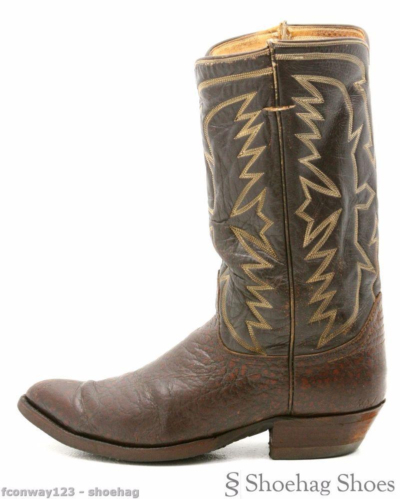 ad5bcf5ac72 Tony Lama Antelope 1960s Cowboy Boots Mens Size 9 Brown Leather Vintage  Western  TonyLama  CowboyWestern