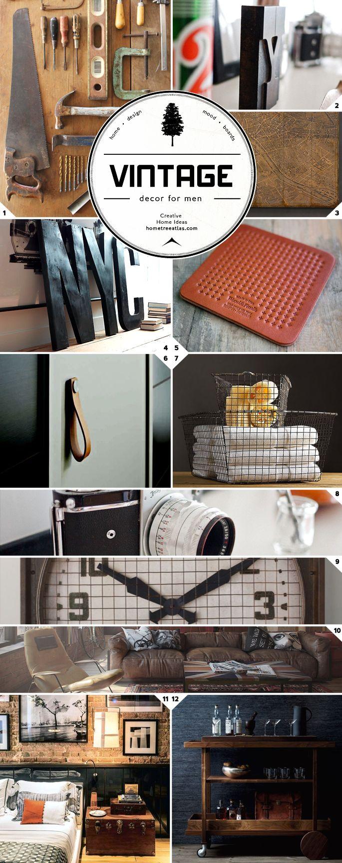 Vintage decor ideas for men new apartment pinterest hogar