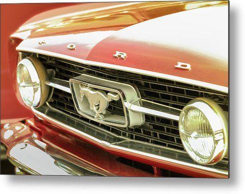 Vintage Mustang Metal Print By Caitlyn Grasso Vintage Mustang Classic Cars Mustang