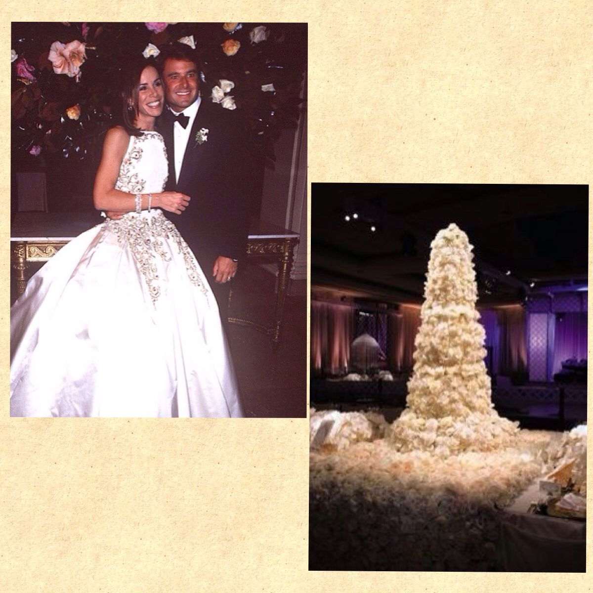 Melissa Rivers wedding cake | Famous Wedding Cakes | Pinterest ...