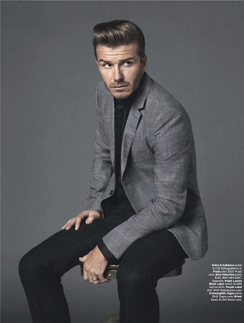 David Beckham Looks Hot in a Suit (What Else is New) in WSJ ...