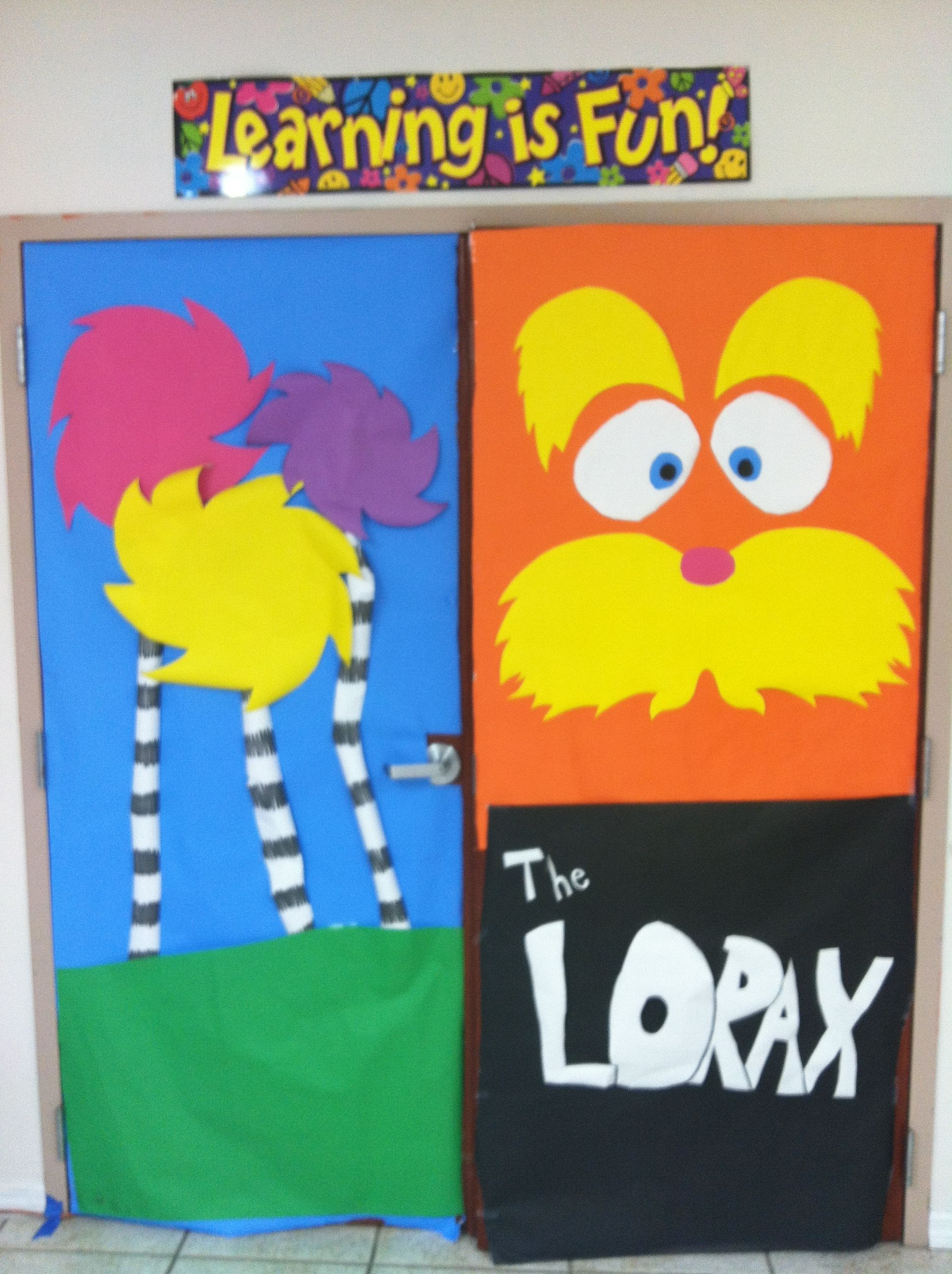 Lorax Classroom Decor ~ The lorax and truffula trees classroom door decorations