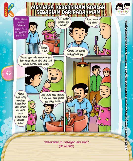 Komik Hadits Kebersihan Sebagian Dari Iman Komik Anak Komik Lucu Buku Anak