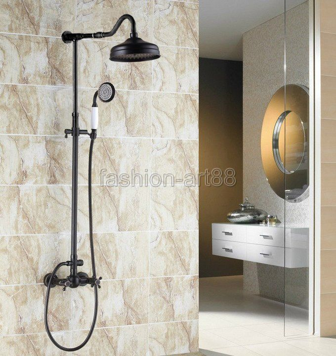 Luxury Oil Rubbed Bronze Bath Shower Faucet Set Rain Shower Head + Hand  Shower Spray For Like The Luxury Oil Rubbed Bronze Bath Shower Faucet Set  Rain ...