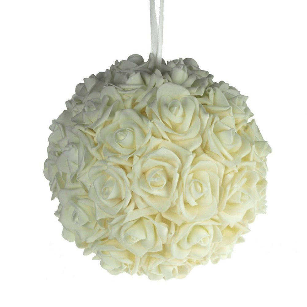Wedding Website Url Ideas: Soft Touch Flower Kissing Balls Wedding Centerpiece, 10