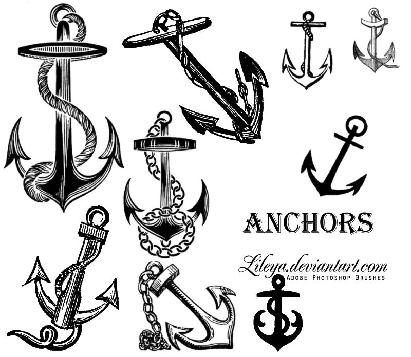Anchor Drawings   Download Anchors Ship Brushes for Photoshop   BrusHouse