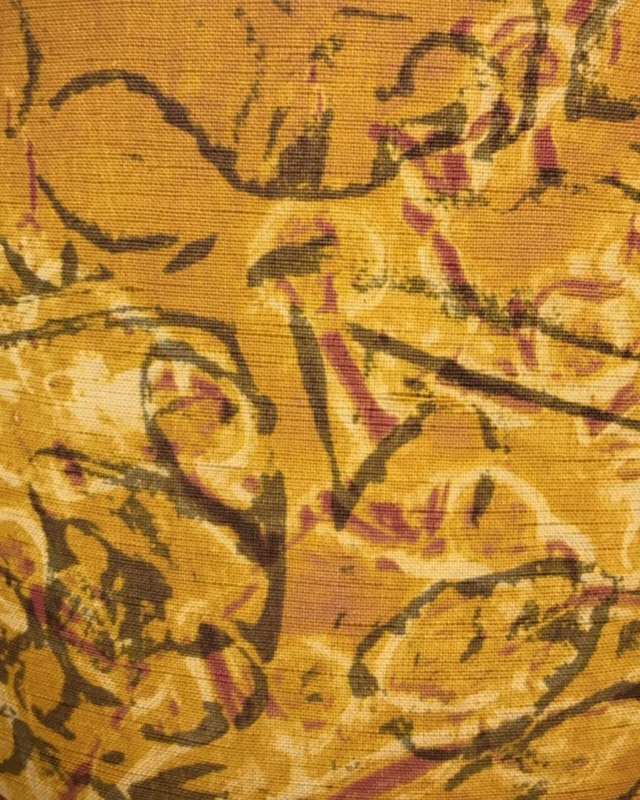 Gold textiles from Belfast Bay Shade Co. Designed in