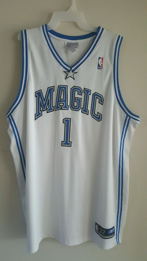8b8b8706b06 100% Authentic Tracy Mcgrady Tmac Reebok Orlando Magic NBA Jersey Size 52…
