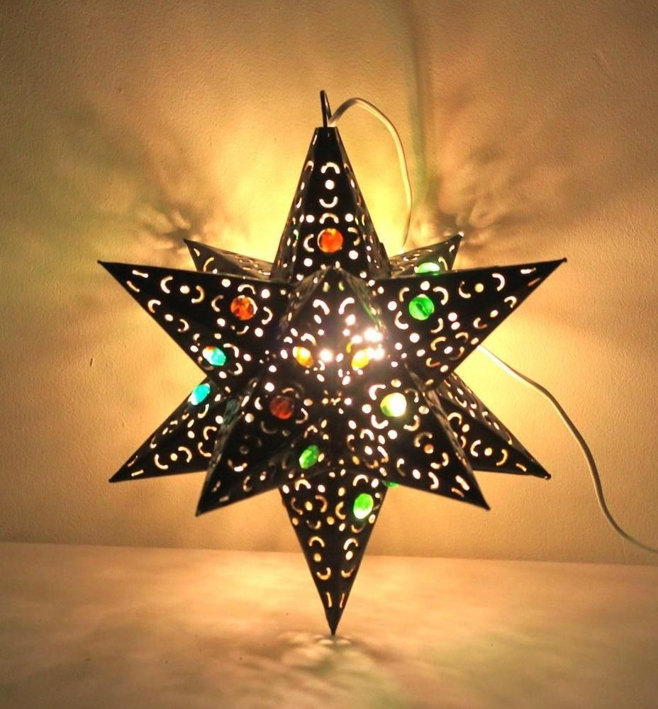 Mexican Tin & Marbles Moravian Star Mexico Pendant Light
