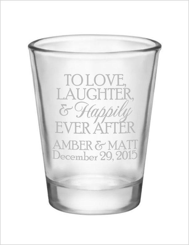 Wedding shot glasses- personalized wedding favors- 1.75oz custom personalized shot glasses- 96 pieces #personalizedwedding