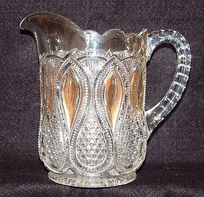 Circa 1880-1900 Early American Pressed Glass Open Sugar Bowl \u2013 Chain Pattern