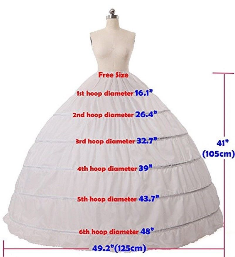 Braut Hochzeit Cosplay Petticoat Balleid Kleid Hoop Unterrock Prom