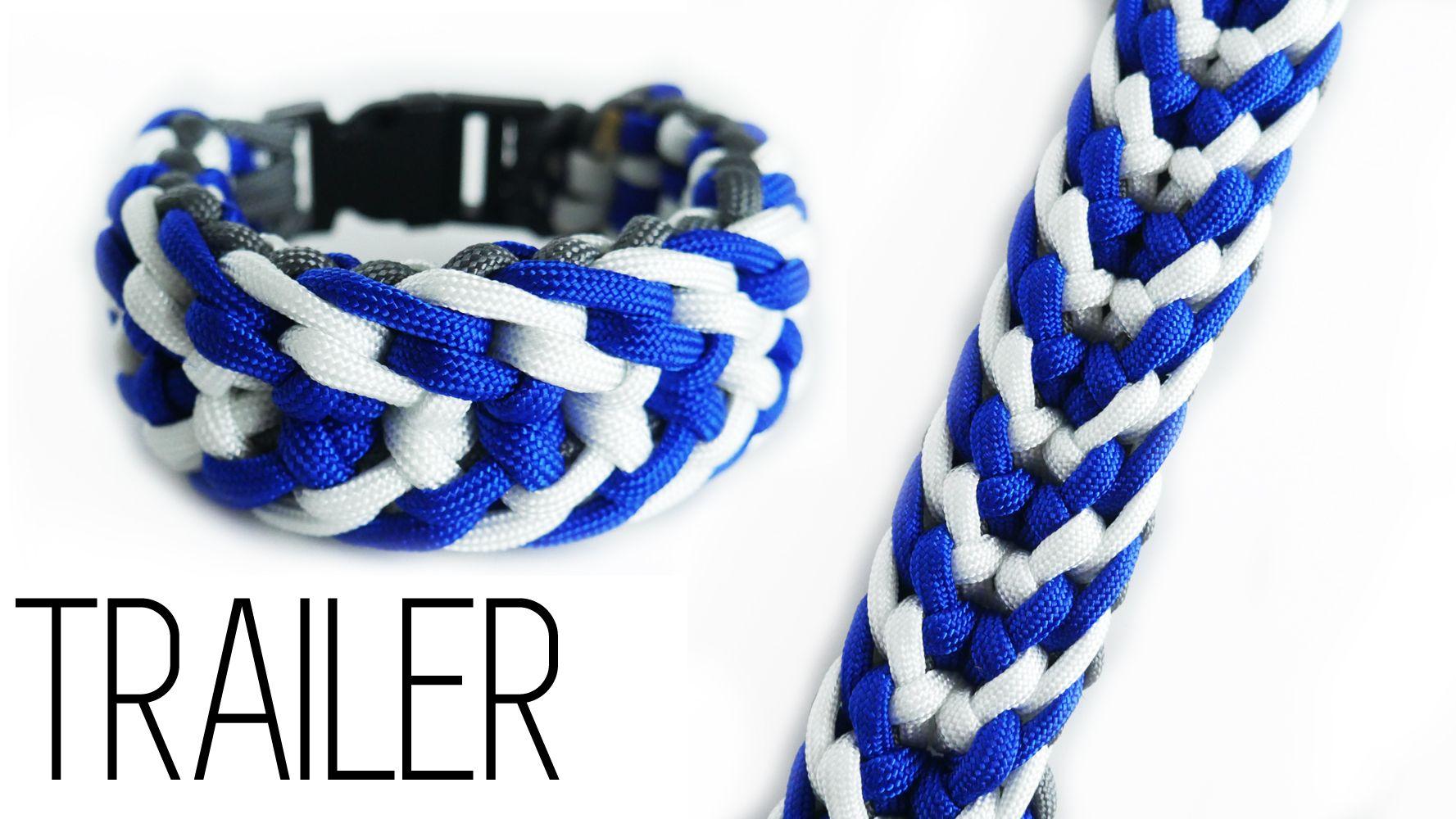 550 Paracord Survival Bracelet King Cobra Carolina Blue//Pink//Cotton Candy