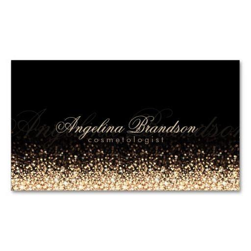Shimmering gold cosmetologist damask black card cartes de visita shimmering gold cosmetologist damask black card reheart Choice Image