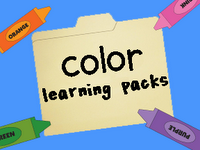 color learning packs include activities, recipes, songs, pictures, and lots more